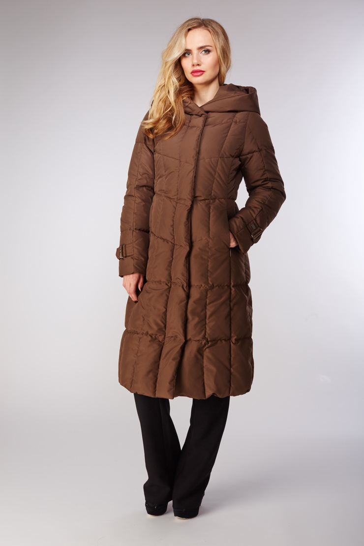Женское финское пальто Joutsen с капюшоном без мехаПуховики<br>Женское финское пальто Joutsen с капюшоном без меха<br>Цвет: коричневый; Размер: 44, 46, 48, 54; Состав: 100% полиэстер, подкладка - 61% полиэстер, 39% полиамид, наполнитель - пух арктических гусей  (EN 12934); Материал: 100% полиэстер, подкладка - 61% полиэстер, 39% полиамид, наполнитель - пух арктических гусей  (EN 12934);