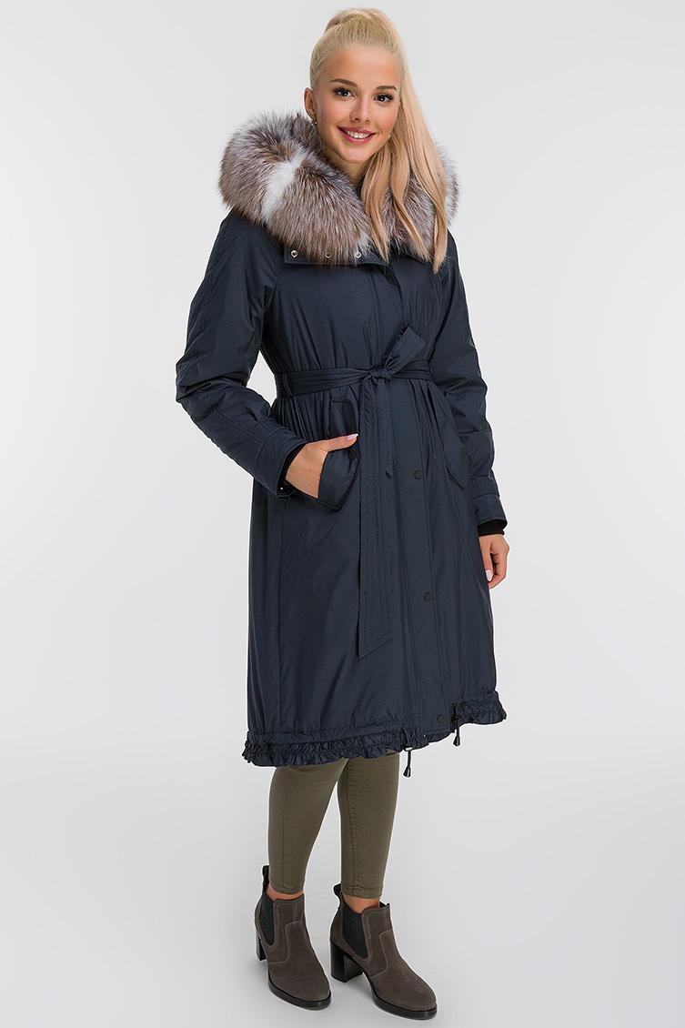 Пальто для зимы на кролике с капюшоном
