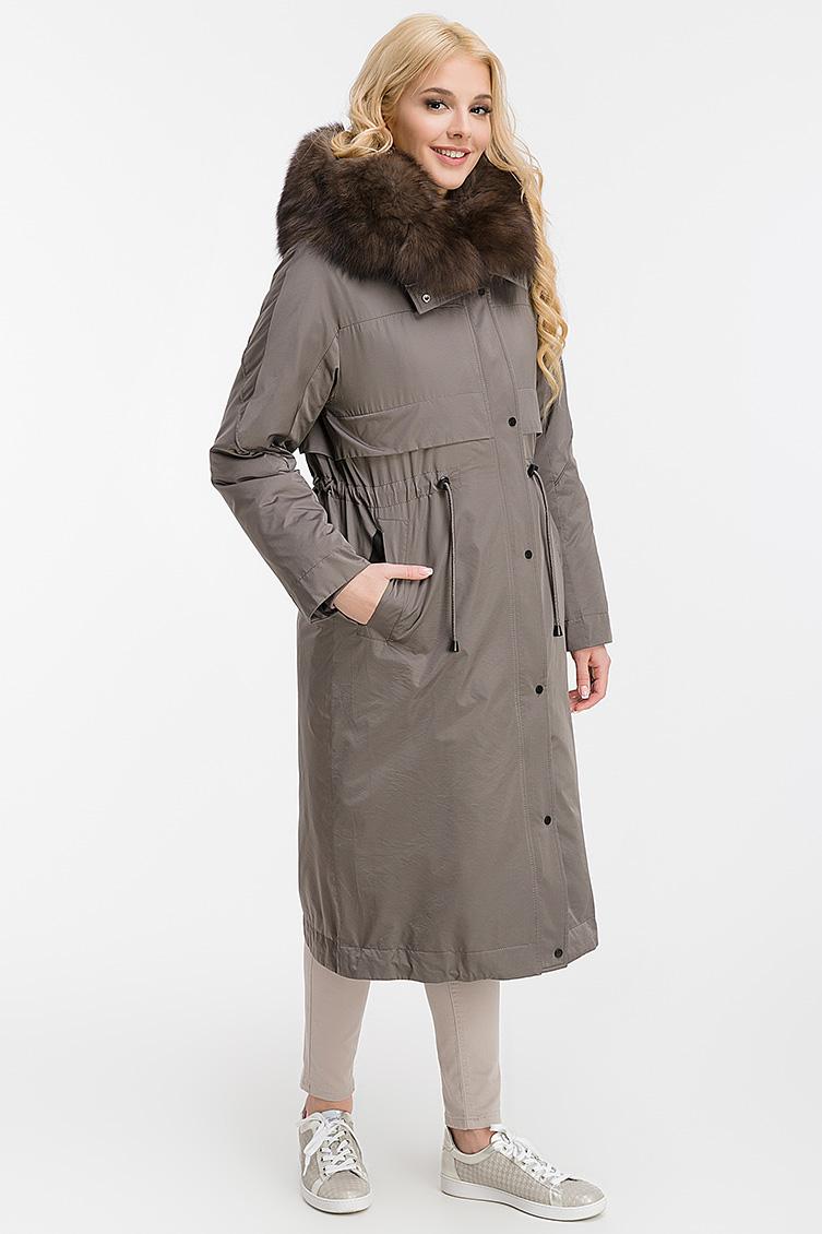 Модная парка-пальто на меху кролика + синтепон фото