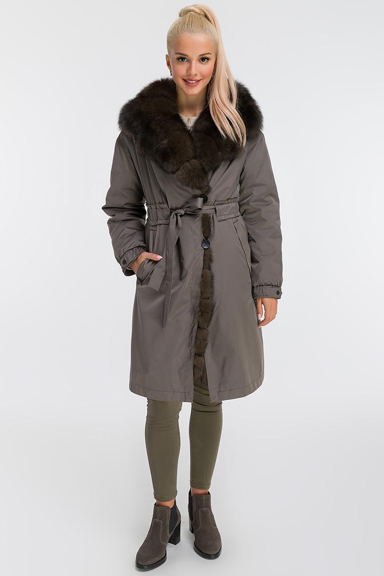 Итальянское пальто на кролике для женщин