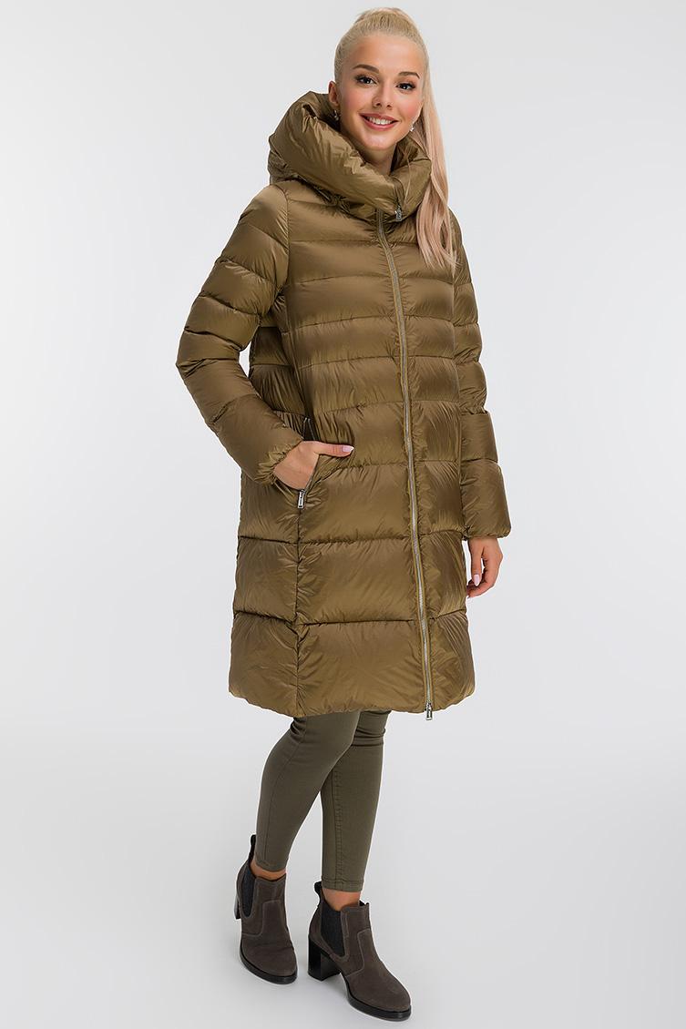 Зимний женский пуховик без меха фото