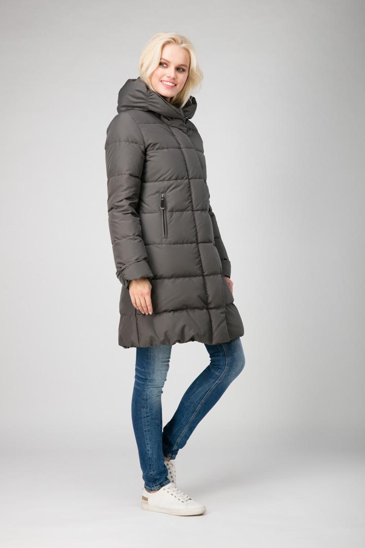 Теплый пуховик для зимы Joutsen цвета хаки фото