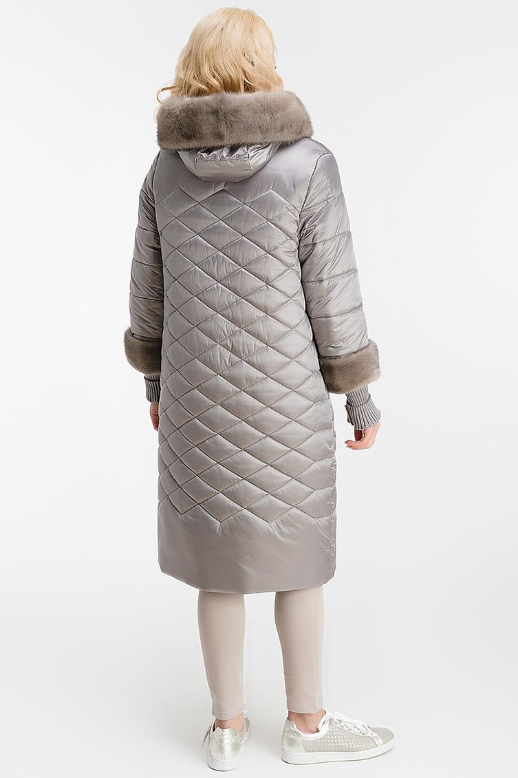 Стильное пальто на верблюжьей шерсти с норкой фото