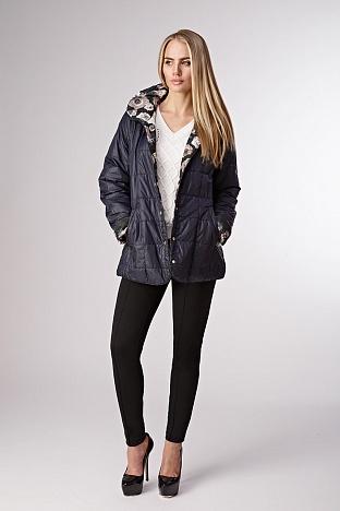 Осенняя стеганая женская куртка на синтепоне