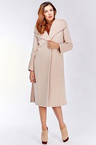Российское женское длинное пальто с капюшоном