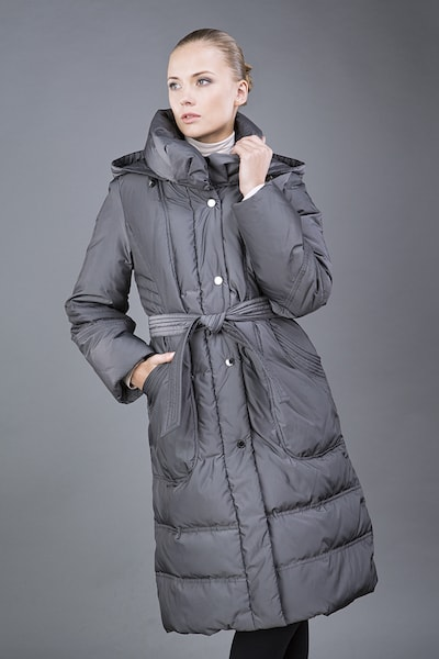 e7eda28cdbe ... Серое женское пальто на пуху Dixi Coat для зимнего сезона