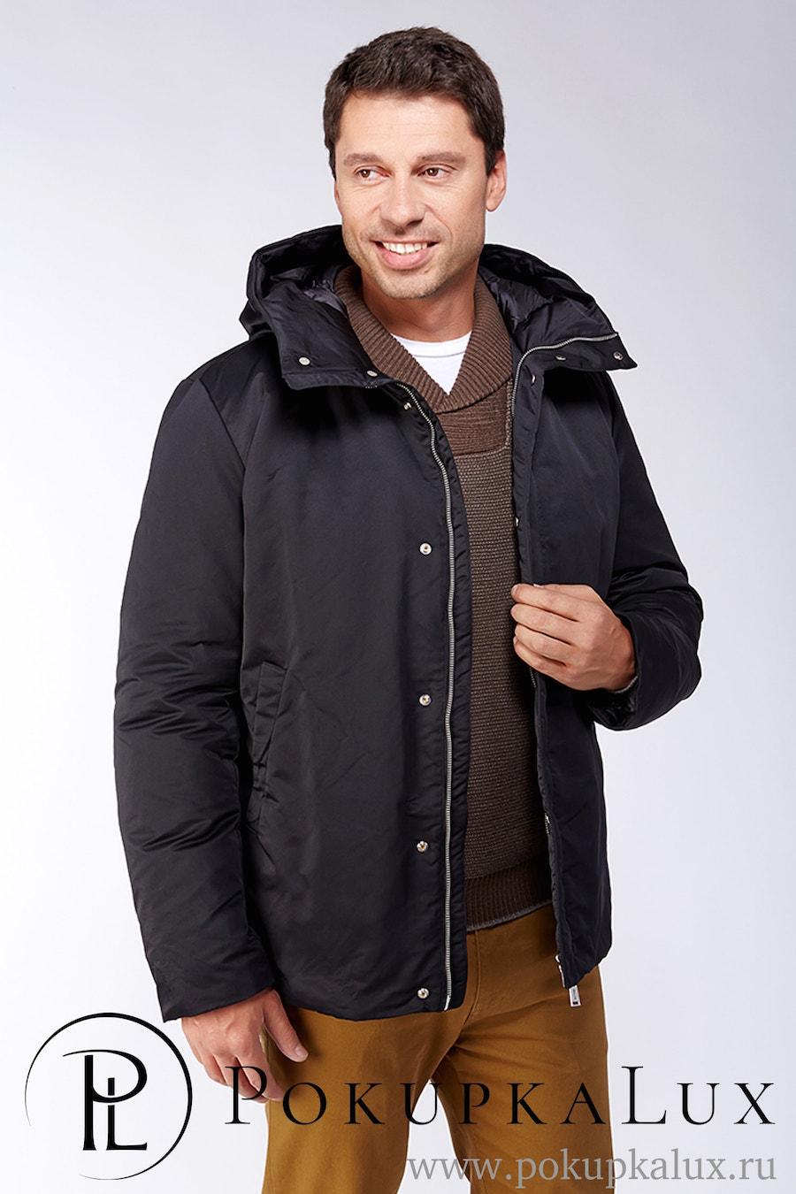752d029ae95 Черная мужская куртка в стиле casual