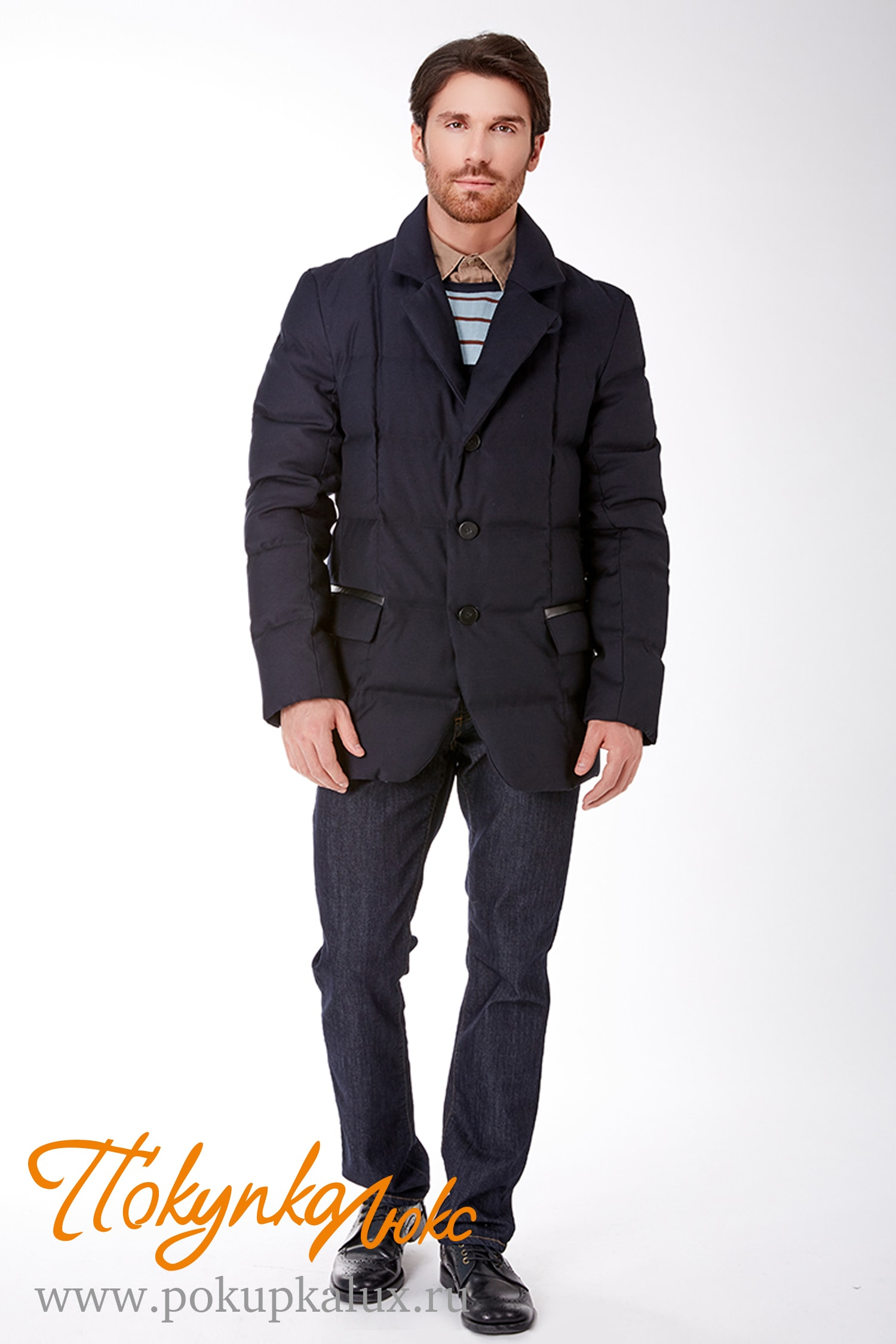 536fef85a43 Стильное мужское пальто-пиджак из шерсти