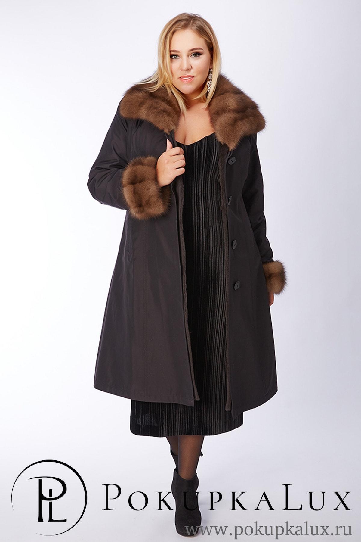 a2485ae03c0 Модное женское пальто на меховом подкладе