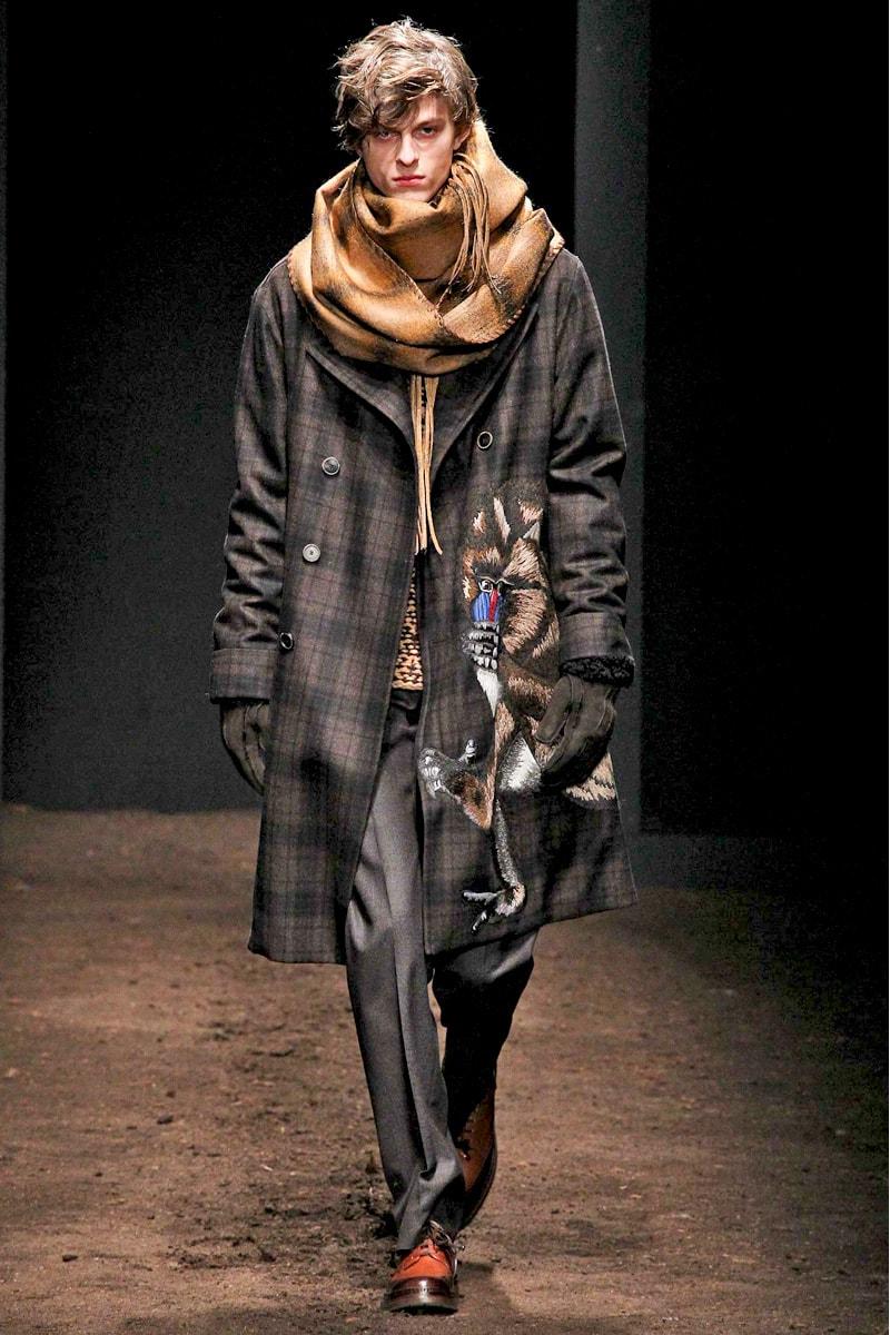 Мужское пальто-оверсайз из коллекции Salvatore Ferragamo