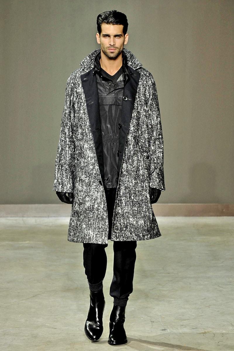 Мужское пальто-реглан фото с показа коллекции Louis Vuitton