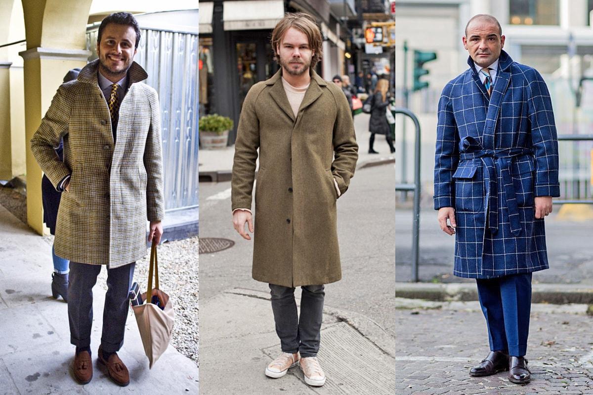 Мужские пальто-реглан street style