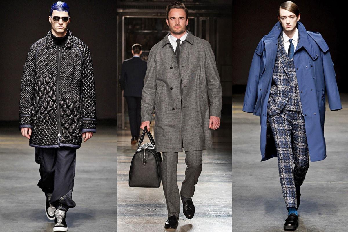 Пальто с рукавом реглан, фото с показа мужской коллекции