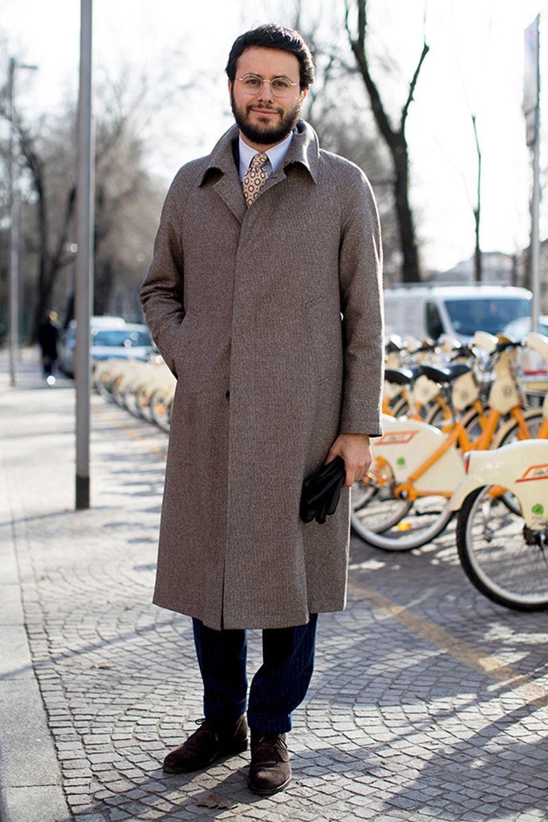 Классическое твидовое пальто-реглан для мужчин