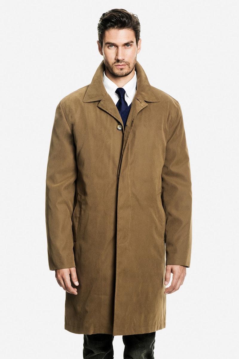 Модное короткое пальто из вощеного хлопка