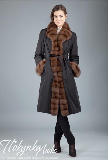 9d00ef4d352 Длинное женское пальто на меху кролика