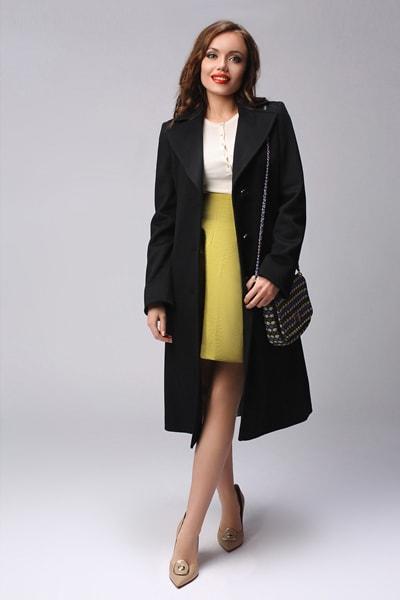 319bcf86504 Женское классическое пальто купить по фото в интернет магазине