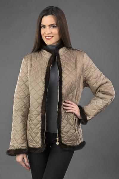 Утепленная женская куртка Garioldi с норковой отделкой 7bf3b1f4e84e9