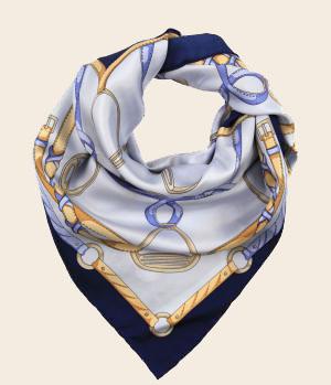 шелковый платок с орнаментом