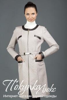 белый кожаный плащ VESUTTI из коллекции интернет-магазина ПокупкаЛюкс