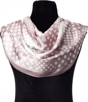 шелковый шарф в горошек