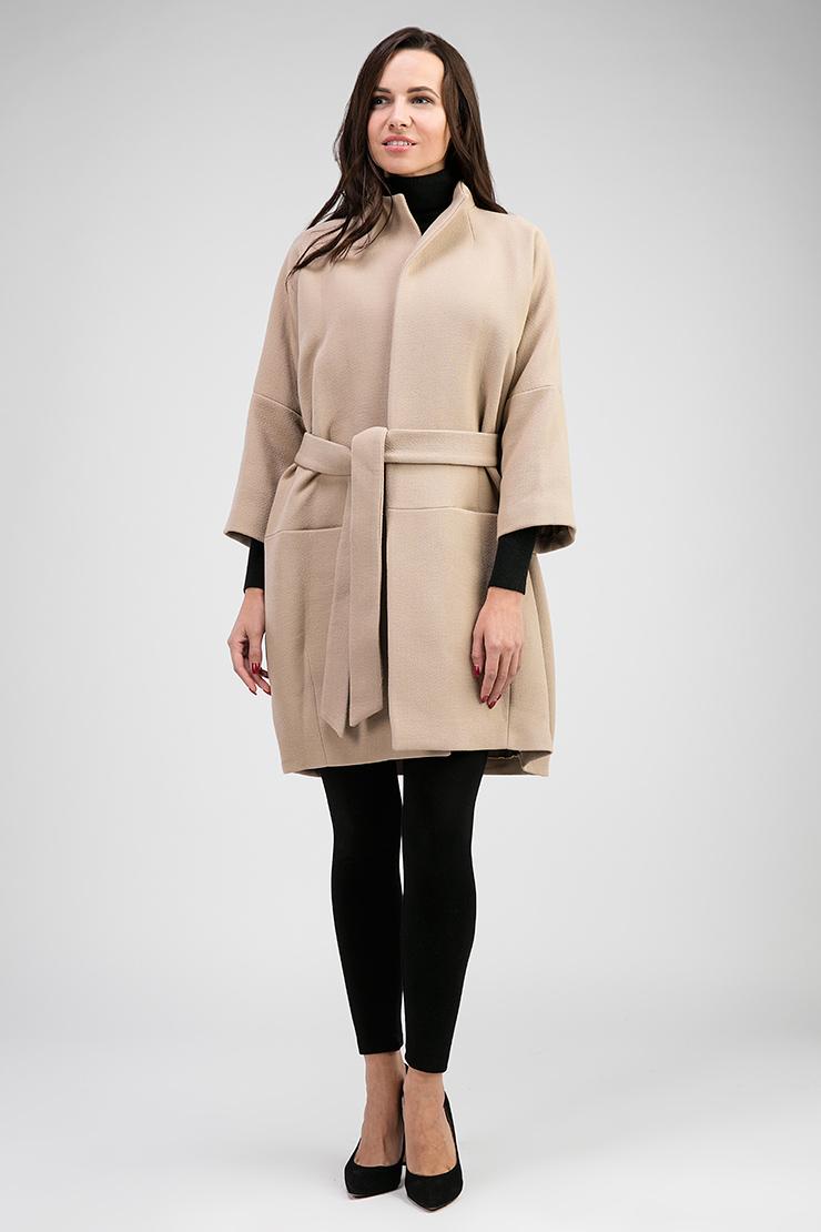 6cb8dc60abc Демисезонное женское пальто оверсайз 29907 P3 - бежевый