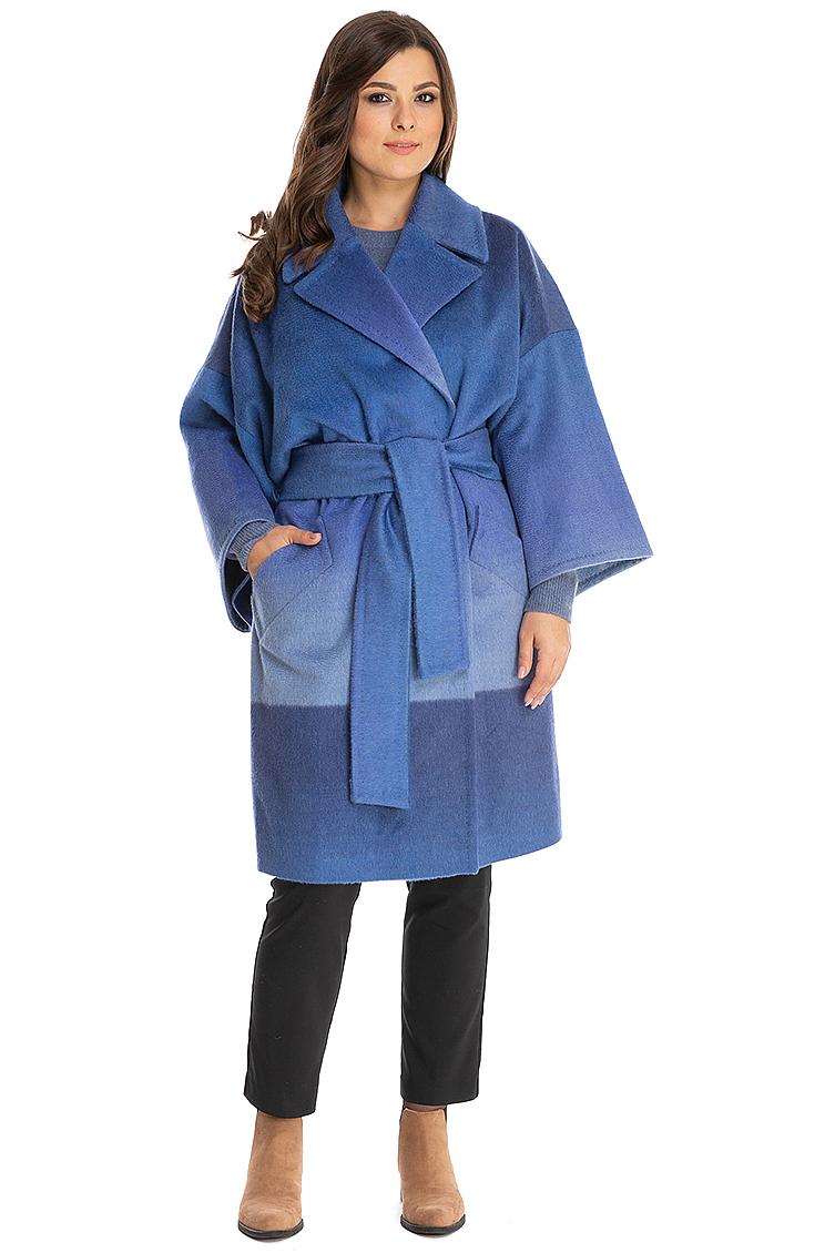 30d12024dbf Стильное пальто-халат с английским воротником