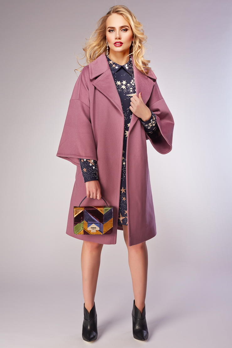60f1f648a91 Шерстяное пальто с запахом Teresa Tardia