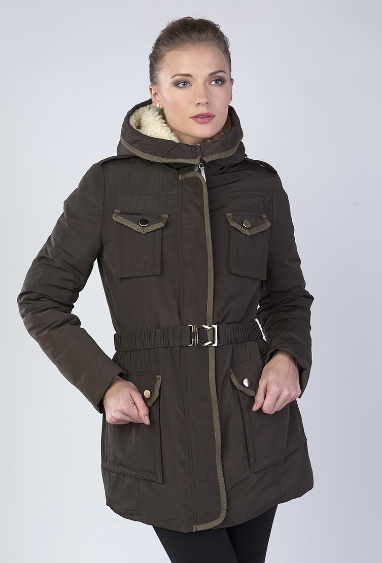 9cd4d204e0c Удлиненная женская зимняя куртка с капюшоном 3328 Y20 - коричневый
