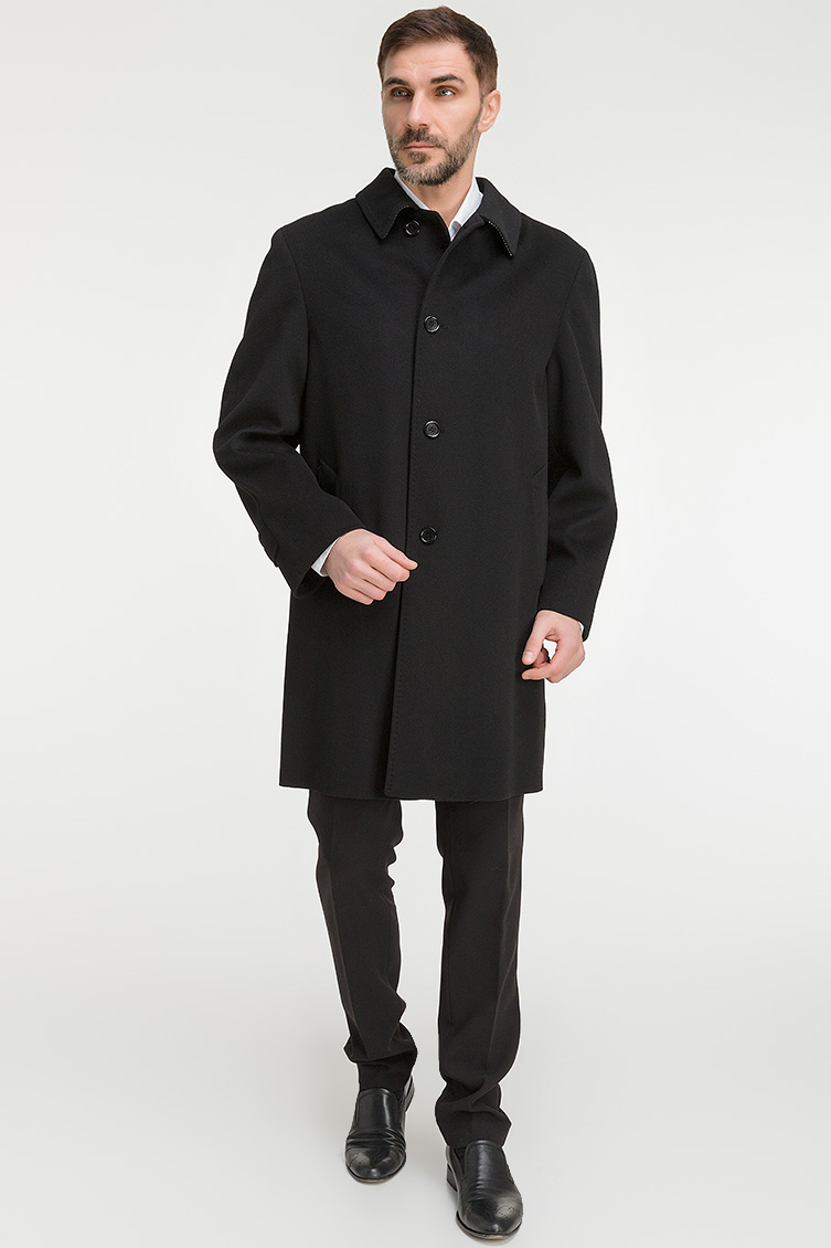 мужское черное пальто фото устранения