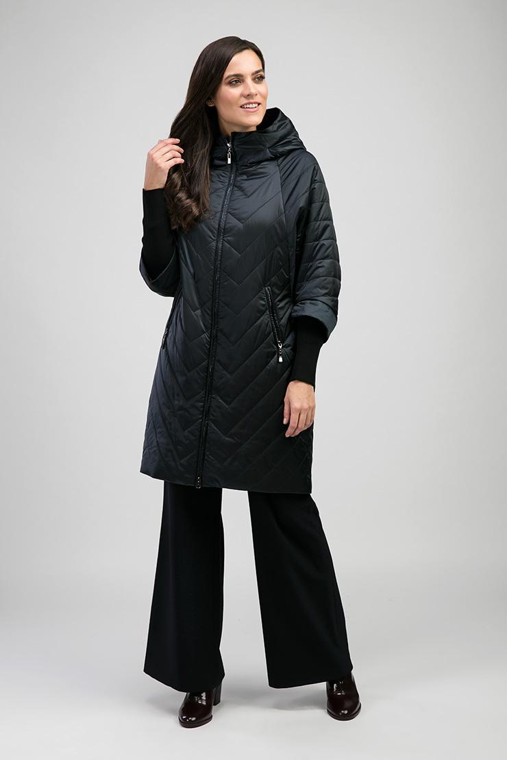 2c39c3bb8b1 Стильное стеганое пальто на синтепоне Альбана 7949 A01 - синий