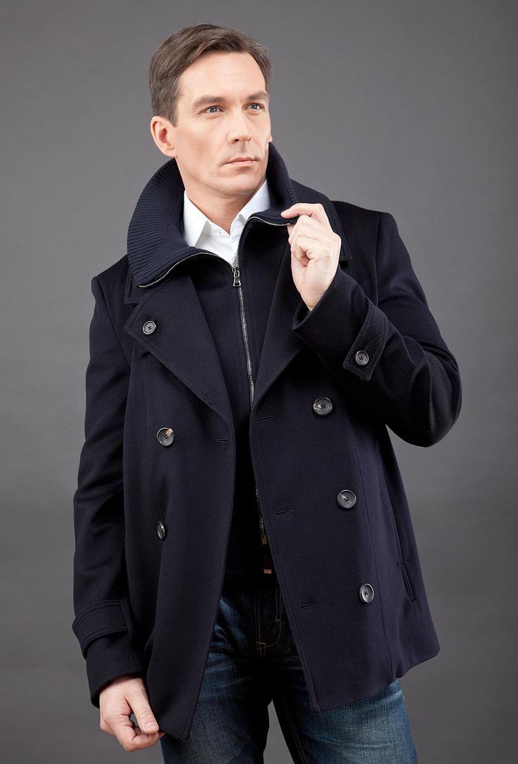 8d0a3d08840 Мужское молодежное пальто-бушлат с трикотажным воротником 82421 T22 ...