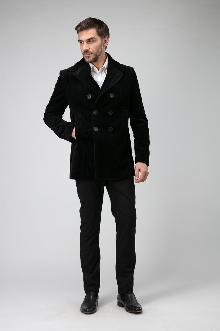 55d02a7eb2f Короткое мужское молодежное пальто-пиджак 826110 T61 - черный