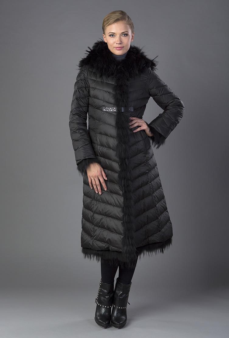 98c80f8cce8 ... Приталенное женское пуховое пальто с капюшоном ...