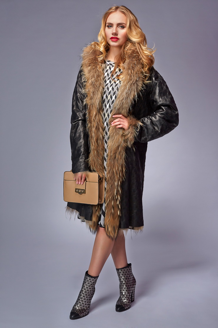 Зимние кожаные пальто с мехом картинки