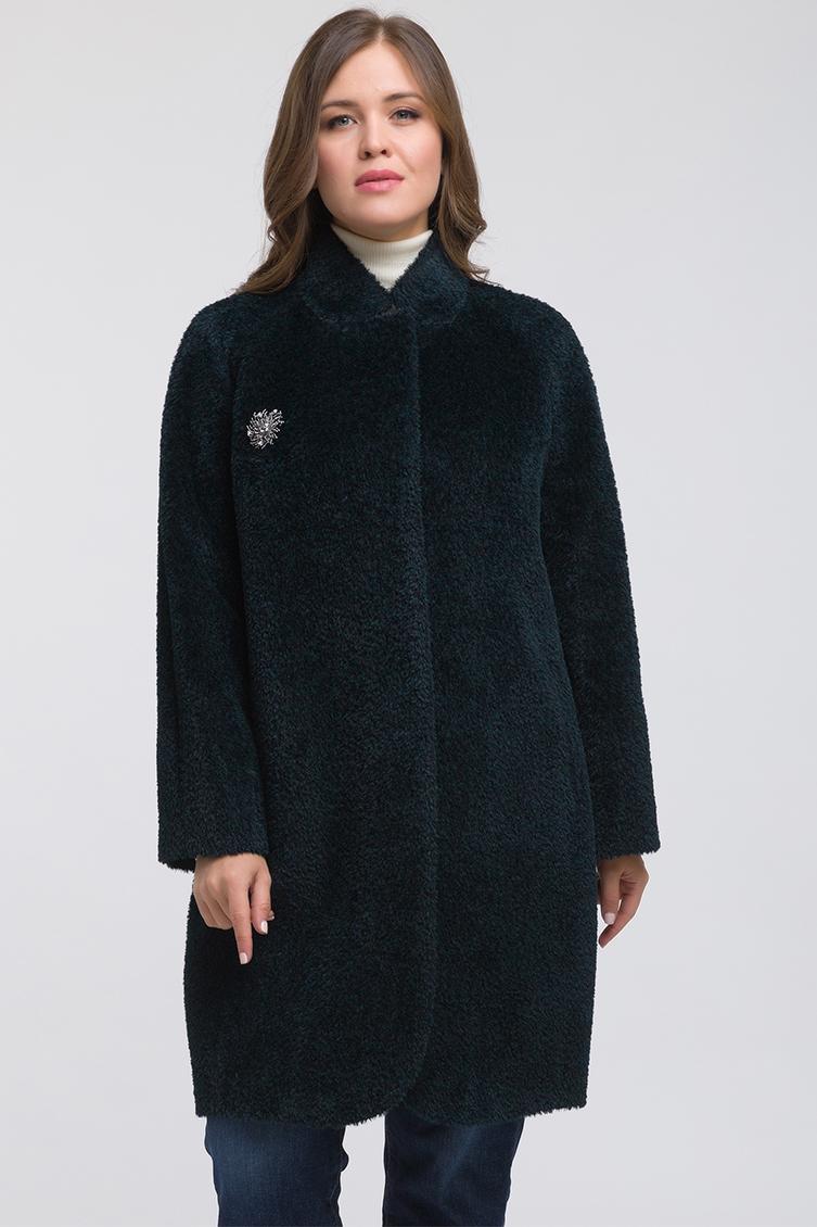 e4eeb2194f7 Модное пальто реглан из альпака без меха