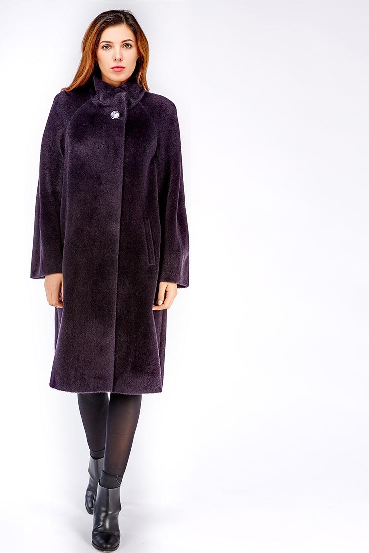 98fb7a95c42 Длинное пальто реглан из альпака российского производства Eleonora ...