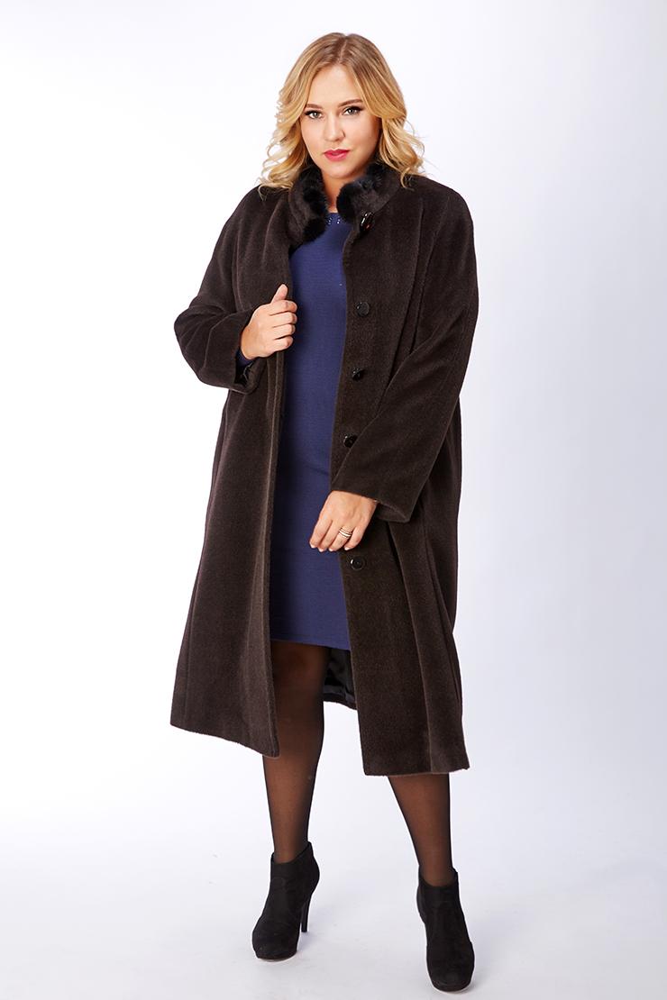 c0c0a2fc5e9 Длинное женское пальто оверсайз из альпака