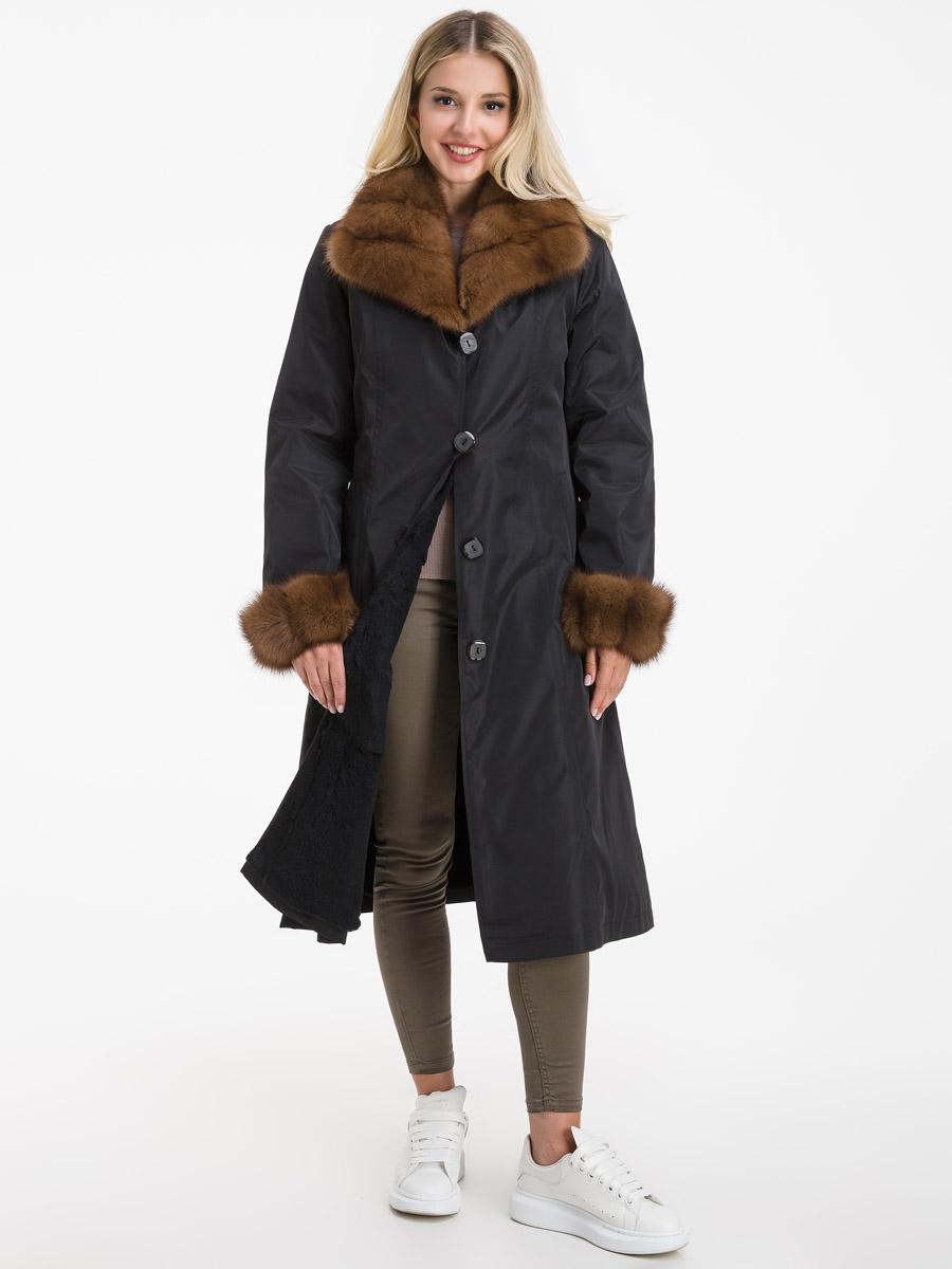 Женское зимнее пальто с меховым воротником из куницы Garioldi 169 02 ... 25f999611cac6