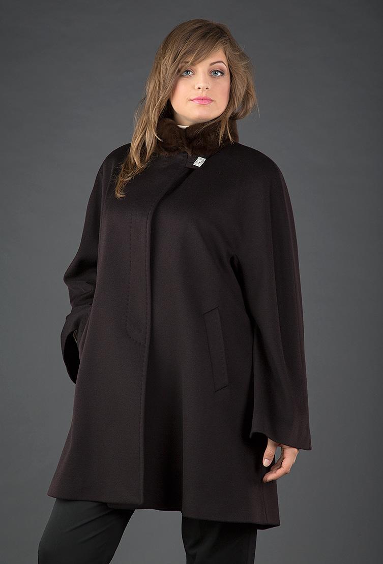 0dd3c350d69 Женское пальто трапеция Heresis коричневого цвета M02 H02 - коричневый