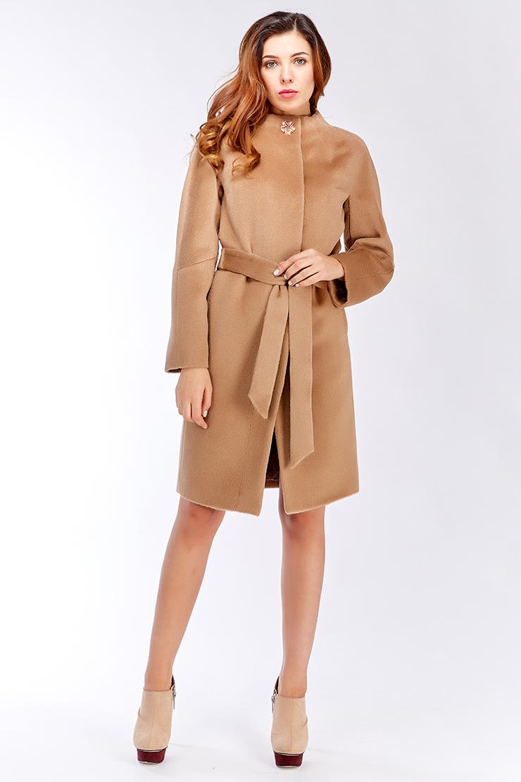 Женское пальто из альпака средней длины с рукавом реглан M101 09d ... 93c6eb3b37b21