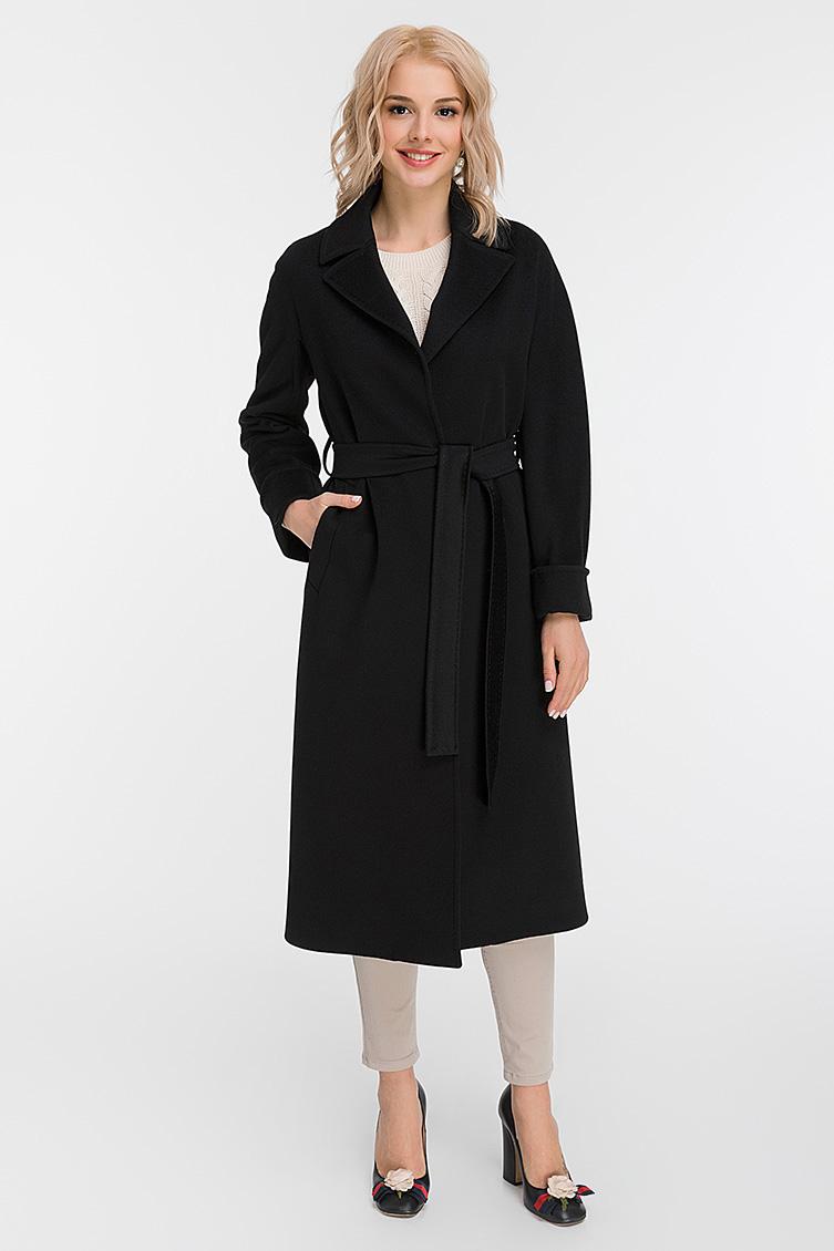 Женское пальто из Италии с рукавами реглан M11 H01 - черный fa7d16589437b