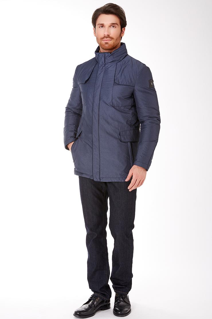 b17c0ded288 Синяя утепленная мужская куртка российского производства