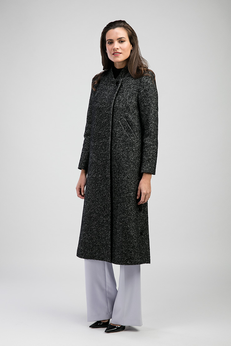 c98ec6c8376 Женское демисезонное пальто-трапеция с воротником-стойкой E502 01d ...