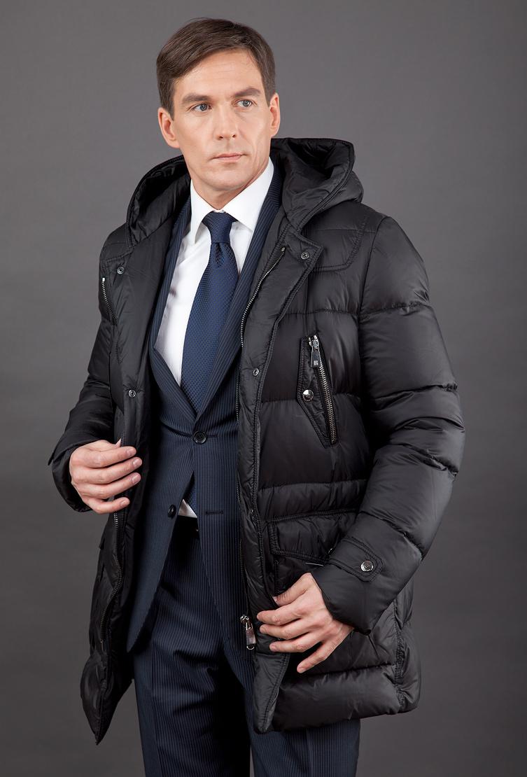 f24bdea546b63 Зимний мужской пуховик для больших размеров без меха MaxN/L15 - черный