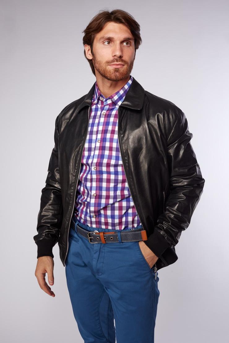 7e4a5116eaa Короткая кожаная куртка с эластичным поясом и манжетами SIRMIONE ...