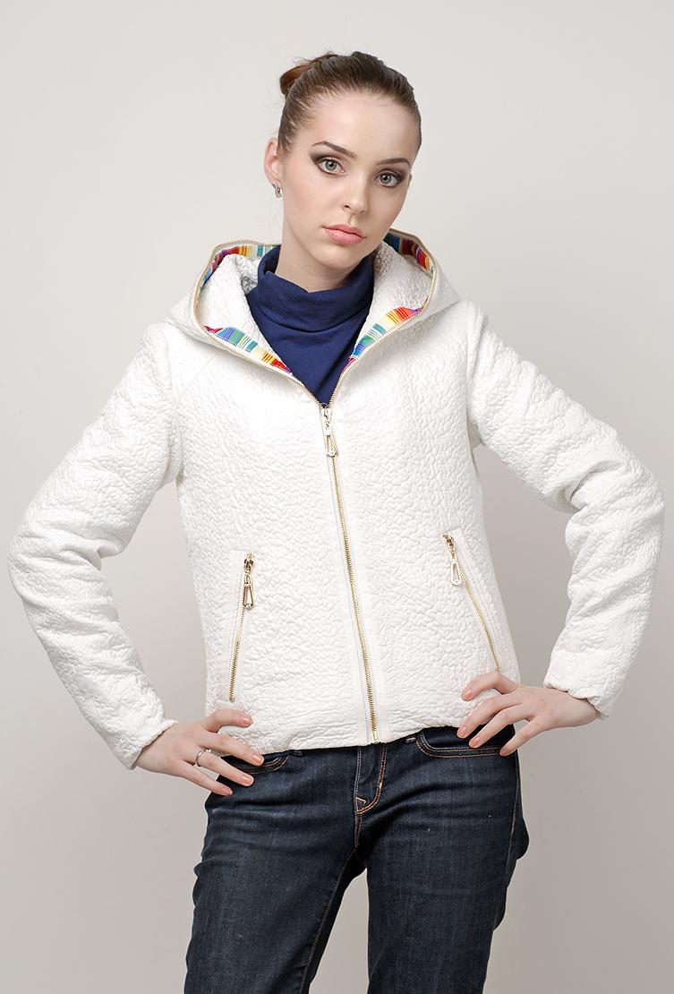 c16624ac8dc Женская белая куртка Snow Grace в спортивном стиле 972 Y1 - белый