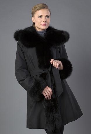 Купить женские пальто на меху кролика с отделкой норкой 3ceb144284238