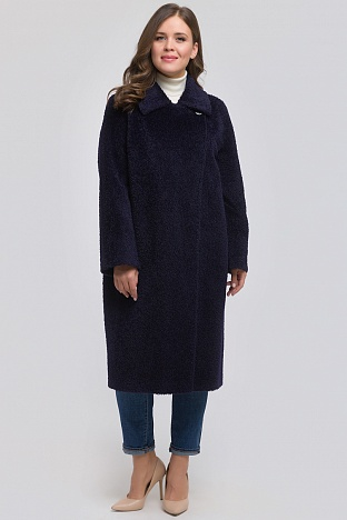 8928897d1ab Купить синее женское пальто в интернет магазине ПокупкаЛюкс Москва