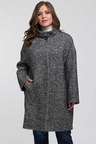 Женские пальто большого размера из плащевки и шерсти a43c62ce71b4e